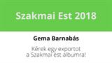 Gema Barnabás - Kérek egy exportot a Szakmai est albumra!