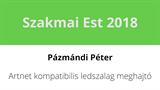 Pázmándi Péter - Artnet kompatibilis ledszalag meghajtó